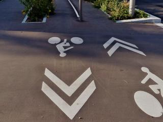piste cyclable en ville